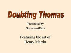 Doubting Thomas Sunday School Crafts | School games ...