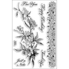 @Overstock - STAMPENDOUS-Clear Stamps: 4x6in. Sheet.  These sheets hold fun clear stamps for all of your scrapbooking; card making; and paper craft projects.  Adhere to any clear acrylic block for easy placement. Sizes and number of stamps per sheet varies by design.http://www.overstock.com/Crafts-Sewing/Stampendous-Perfectly-Clear-Stamps-Rose-Branch-Border/6552481/product.html?CID=214117 $12.99