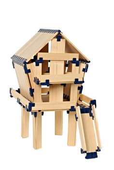 Tree House from TomTecT blocks! #education #toys #kapla #blocks #homeschool