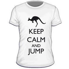 Maglietta personalizzata Keep Calm and Jump