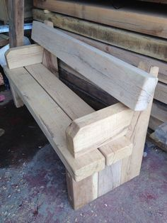 Pallet Outdoor Furniture Branson Leisure: Cranham green oak seat 2 of 3 Rustic Outdoor Furniture, Wood Patio Furniture, Diy Garden Furniture, Outside Furniture, Furniture Plans, Wood Sofa, Furniture Storage, Furniture Layout, Diy Wood Projects