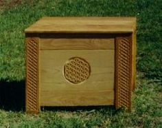 Dragonwing - Medieval Chest cushioned as seating/storage for queen at solar
