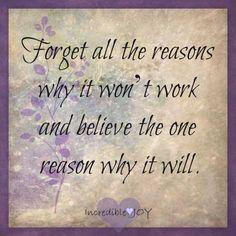 Positivity quote via at www.Facebook.com/IncredibleJoy