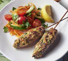 Low FODMAP Recipe and Gluten Free Recipe - Turkey Koftas (but swap coriander for parsley, obvs) Mince Recipes, Fodmap Recipes, Gluten Free Recipes, Healthy Recipes, Minced Turkey Recipes, Savoury Recipes, Diet Recipes, Chicken Recipes, Zucchini
