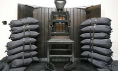 """[""""Utah Brings Back Firing Squad Executions; Witnesses Recall The Last One""""] [""""The firing squad execution chamber at the Utah State Prison in Draper, Utah, is shown in June In China, Execution By Firing Squad, Pena Capital, Lethal Injection, Electric Chair, Essential Questions, Amnesty International, U.s. States, United States"""