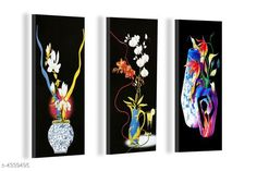 Paintings & Posters Attractive Trendy Wall Posters  Material: MDF  Size- (L X W ): 36 cm X 45 cm Description: It Has 3 Pieces Of Wall Poster Work: Printed Country of Origin: India Sizes Available: Free Size   Catalog Rating: ★4.1 (3962)  Catalog Name: Navratri Multicolor Attractive Trendy Wall Posters Vol 5 CatalogID_622663 C127-SC1611 Code: 981-4339495-792