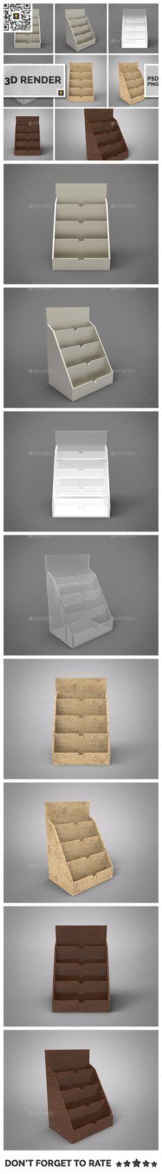 Business Card Holder 3D Render