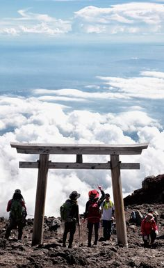 Torii gate on the top of Mt. Fuji, Japan