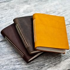 Personalized Leather Pocket Journal