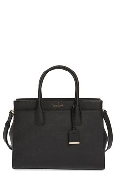 Free shipping and returns on kate spade new york cameron street - candace leather satchel at Nordstrom.com. Crosshatched leather with contrast trim and a classic silhouette makes the candace satchel from kate spade a must-have for fall. This smartly designed bag features three separate, spacious compartments for organizational ease, while top handles and a removable shoulder strap offer stylish carrying choices.