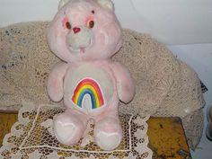 Cheer Bear Care Bear with Rainbow on Tummy  by Daysgonebytreasures