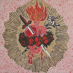 Sagrado corazón The Sacred Heart of Mary by the Mexican artist Marina Vargas.