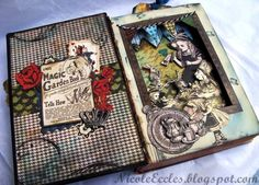 Tea Time w/ Alice altered book