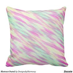 Abstract Pastel Throw Pillow