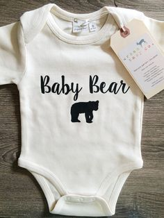 Baby Bear Baby Boy Girl Unisex Infant Toddler by shopurbanbabyco Baby Bear Outfit, Baby Boy Dress, Boys Dress Outfits, Baby Boy Outfits, Newborn Outfits, Handmade Baby Clothes, Cute Baby Clothes, Cute Baby Boy, Baby Boy Gifts
