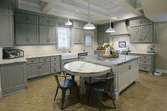 Becki's gray and white kitchen in Vintage KC Magazine