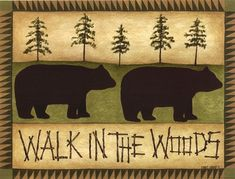 Walk In The Woods by Cindy Shamp art print | Bear & Cabin Decor