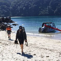 Lets go! Walking in Abel Tasman National Park is no hardship - especially if you've caught a water taxi straight into the heart of it