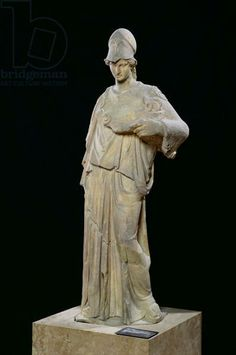 Athena with a cist (box for sacred utensils), Roman copy of a 4th century BC original (marble) Cephisodotus, (4th century BC) (after) / Louvre, Paris, France / Giraudon / The Bridgeman Art Library