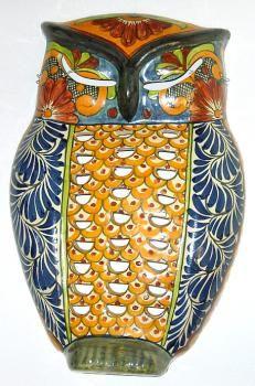 Mexican Pottery Talavera Owl