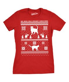 This Red Cat 'We Wish You a Merry Christmas' Tee - Women & Plus Too is perfect! #zulilyfinds
