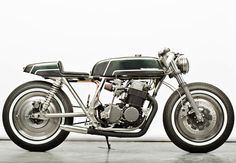 Wrench Monkees custom cafe racer motorcycle has got a basic race style in its design. Would love to see an retro full-fairing on it.