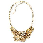 Mixit® Goldtone Crystal Multi-Charm Necklace