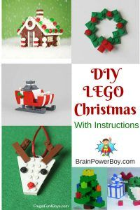 DIY LEGO Christmas! Includes instructions for adding some LEGO fun to your Christmas. Get the directions to make a LEGO Christmas Projects and LEGO Christmas Ornaments by clicking now.
