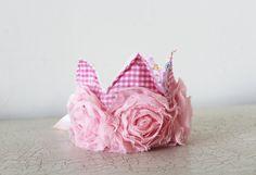 Pink baby girl princess crown headband photo prop by bonbonLand, $19.50