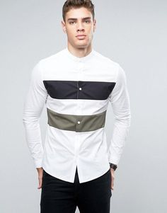 Discover our stylish men's shirts at ASOS. Shop from hundreds of different shirt styles, from check to stripes, long sleeve to three-quarter sleeve shirts. Stylish Shirts, Casual Shirts For Men, Men Casual, Moda Men, Mens Designer Shirts, Going Out Shirts, African Men Fashion, Mens Fashion Suits, Asos