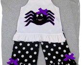 Custom Boutique Clothing Halloween Spider Aline Tunic Dress Top Ruffle... ZamakerrClothingCo $43.99