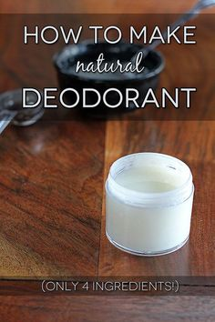 How to Make Natural Deodorant- LOVE this!  Why give away money to the cosmetic industry? I spend pennies on natural ingredients and don't take up a lot of space with bottles/tubes of chemicals & crap! And it works!
