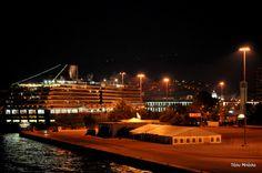 Νυχτερινός Πειραιάς Opera House, Building, Travel, Viajes, Buildings, Destinations, Traveling, Trips, Construction