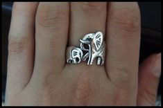 Elephants Family Ring by BJewelry2014 on Etsy