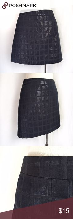 "GAP Navy Blue Shimmer Squares Skirt✨HP✨ Mod style navy miniskirt with shiny squares! Pair it with some strappy flats or ankle boots. Fully lined/invisible side zipper. 60% polyester; 40% cotton. Size 8. Waist: 16"" across.  Length: 16"". Very slight wash wear. EUC. Thanks for looking! Gap Skirts Mini"