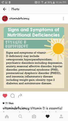 Signs and Symptoms of Nutritional Deficiencies: Vitamin D Deficiency