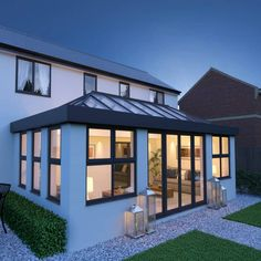 Aluminium roof lantern, skylight and flat roof sky. - Aluminium roof lantern, skylight and flat roof sky. House Extension Plans, House Extension Design, Glass Extension, Extension Ideas, Side Extension, Bungalow Extensions, Garden Room Extensions, House Extensions, Kitchen Extensions
