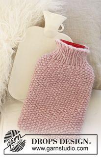 Hot water bottle covers free knitting pattern knitting knitted drops cover for hot water bottle in eskimo dt1010fo