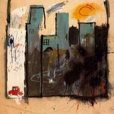 basquiat  cityscape, graffitti