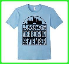 Mens Cartoon Legends Born In September Birthday Funny T-Shirt 2XL Baby Blue - Birthday shirts (*Amazon Partner-Link)