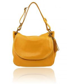 TL BAG TL141110 Soft leather shoulder bag with tassel detail
