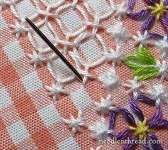 Chicken Scratch / Gingham Embroidery Tutorial ༺✿ƬⱤღ  http://www.pinterest.com/teretegui/✿༻
