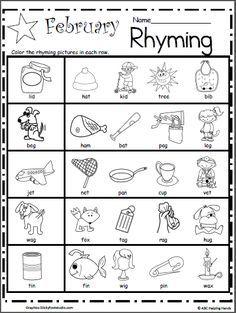 Rhyming Words Match in 2018 | Rhyming Worksheets | Pinterest ...