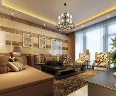 contemporary living room lighting design