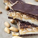 Selbstgemachte Snickers-Riegel