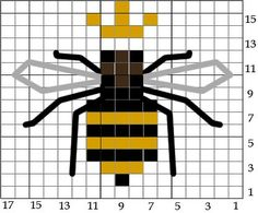 Less than an inch square if worked on 22 or 28 count! - I love bee crafts Carolina Honeybees Farm Cross Stitching, Cross Stitch Embroidery, Embroidery Patterns, Quilt Patterns, Tiny Cross Stitch, Cross Stitch Designs, Cross Stitch Patterns, Bee Crafts, Filet Crochet