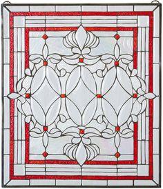 Eclectic Glass - Rose Crimson Beveled Triplex Stained Glass Window, $269.00 (http://eclecticglass.com/rose-crimson-beveled-triplex-stained-glass-window/)