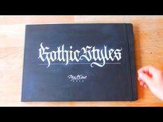 Sketchbook tour TDOW FrakOne Calligraphy - YouTube