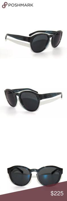 Chanel 5301 Bijou Square Sunglasses Blue Frame Chanel Bijou square ...
