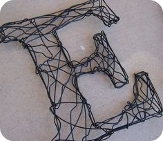L'alfabeto on Etsy, wire letters Wire Letters, Letters And Numbers, Monogram Letters, Wire Crafts, Metal Crafts, Art Fil, Find Fonts, Diy Upcycling, Monogram Design